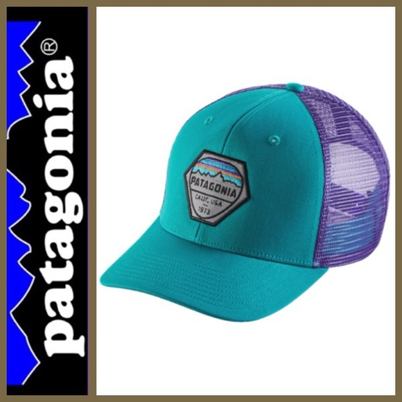 NEW!   Patagonia   Fitz Roy Hex Trucker Hat. M 5bb692c4534ef9db08638aff 8e2770813728